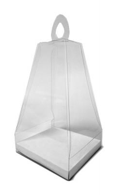Caja de PVC transparente para huevos de pascua